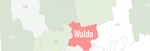 Waldo County Map